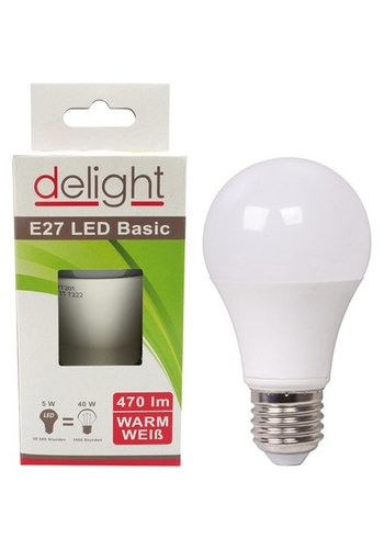 Delight LED-lamp Delight 5Watt, E27-fitting