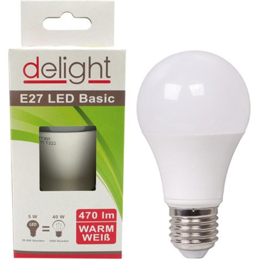 LED Lampe Delight 5Watt, E27 passend