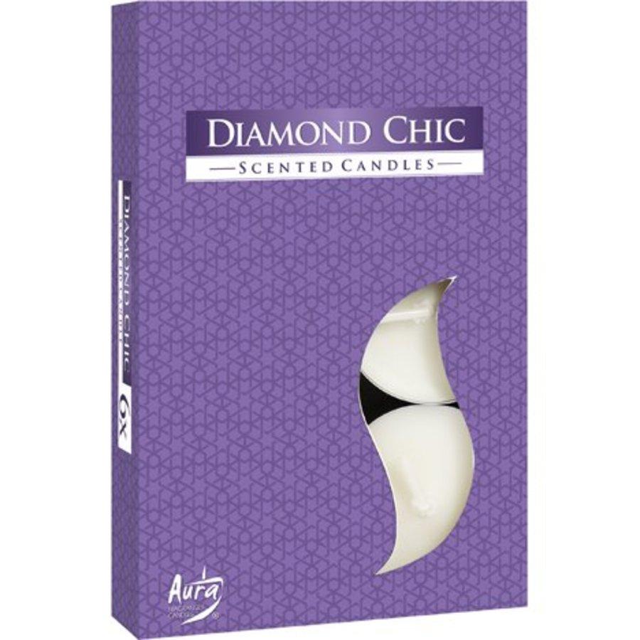 Teelichter mit Duft Diamond Chic - 6 Stück - Luxusverpackung