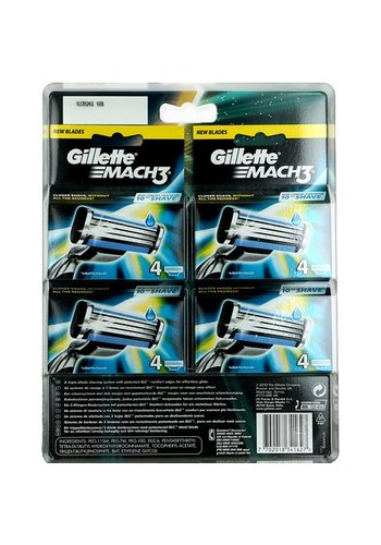 Gillette Mach 3 - 16 pièces - (4x4) lames