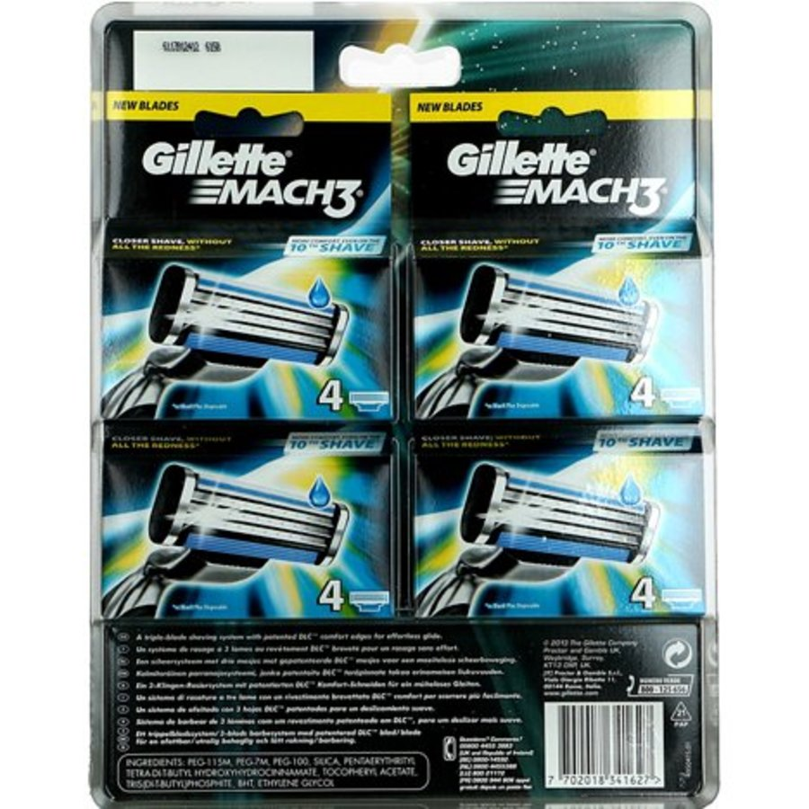 Gillette Mach 3 16 Klingen (4x4 Klingen)