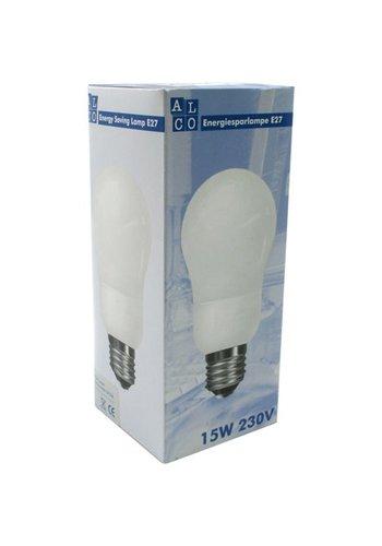 ALCO Energie spaarlamp lamp ALCO 15 Watt, E27 fitting