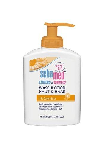 Sebamed Sebamed Baby Wash Lotion 200ml Calendula Huid en Haar