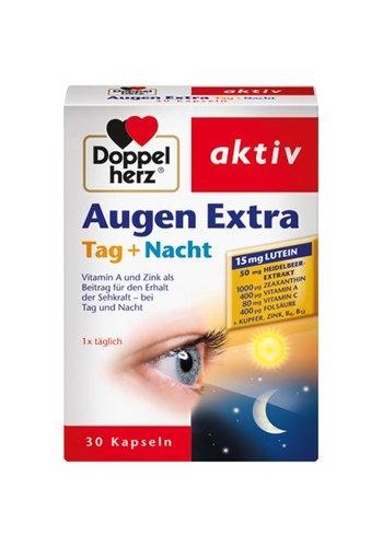 Dubbel Hart Augen stärken zusätzliche Tag + Nacht 30 Kapseln sehen scharf Tag und Nacht