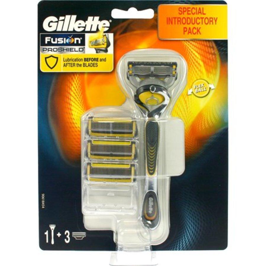 Gillette ProShield 4er Klingen + Rasierer