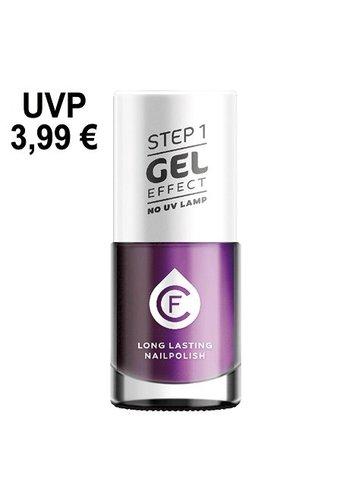CF CF-gel effect nagellak, kleurnr. 314, paars metallic
