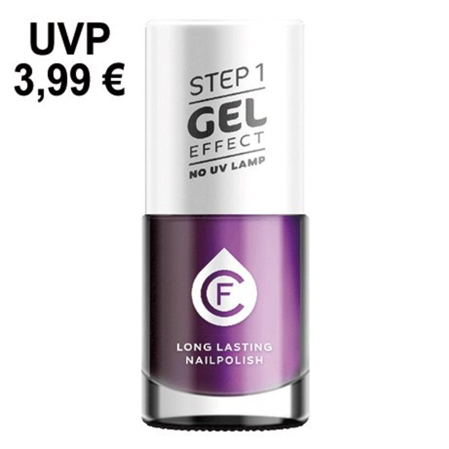 CF-gel effect nagellak, kleurnr. 314, paars metallic