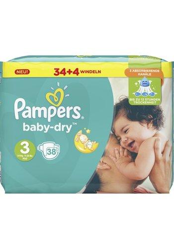 Pampers Pampers Babywindeln Baby Dry Größe 3 Midi (5-9kg)