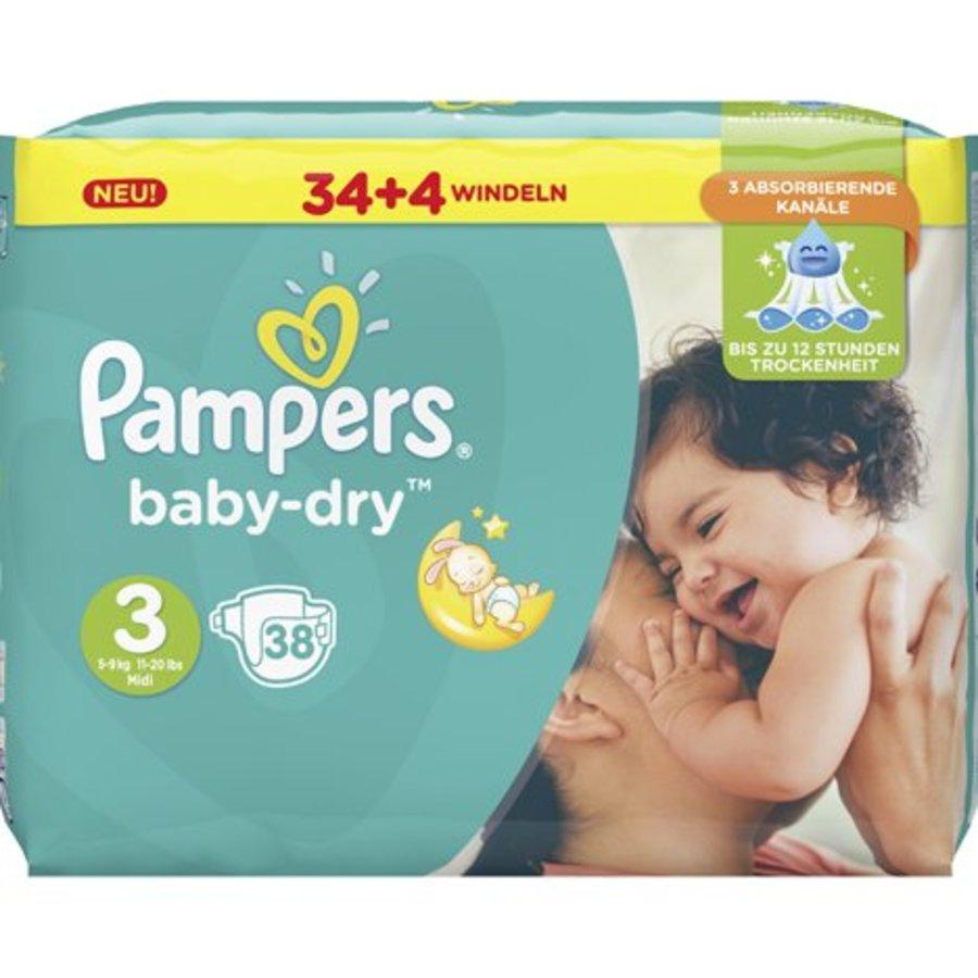 Pampers Babywindeln Baby Dry Größe 3 Midi (5-9kg)