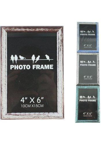 Neckermann Cadre photo en bois coloré 10x15cm en 4 couleurs