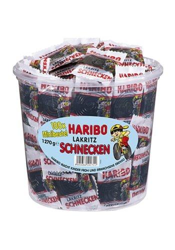 Haribo Food Haribo Lakritz Schnecken 100 Minibeutel