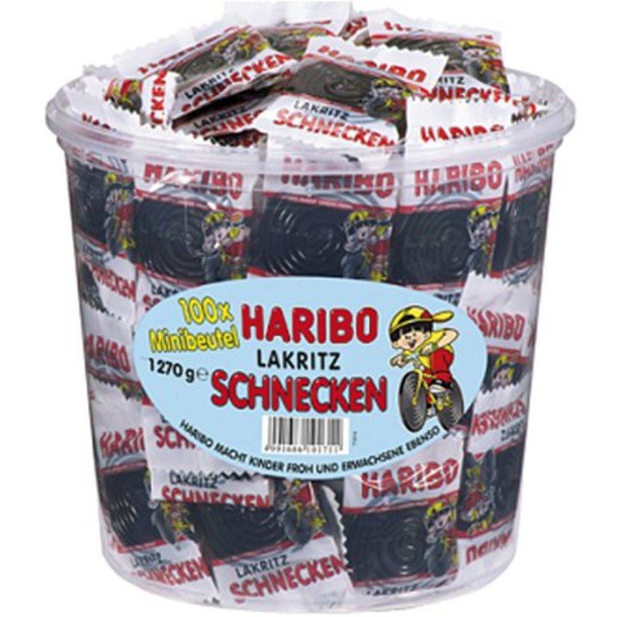 Food Haribo Lakritz Schnecken 100 Minibeutel