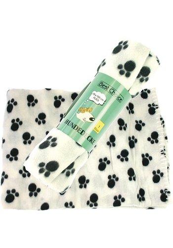 Best Choice Hondendeken 70x100cm, assorti kleuren. met decor