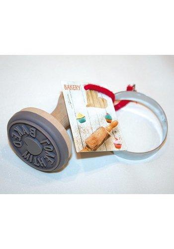 Neckermann koekie  Rubberstempe Houten Handvat  9x6x6vm Home Made