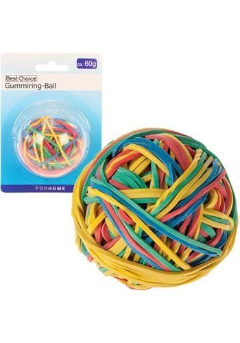Neckermann Gummibänder-Ball 60gr. Regenbogenfarben