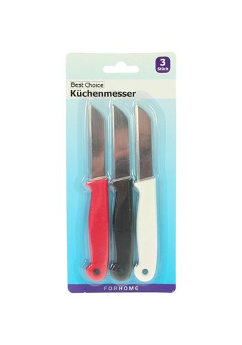 Best Choice Küchenmesser 3er Set Länge 16cm Klinge 7cm