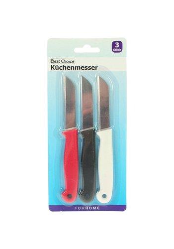 Best Choice Set de 3 couteaux de cuisine Longueur 16cm Lame 7cm