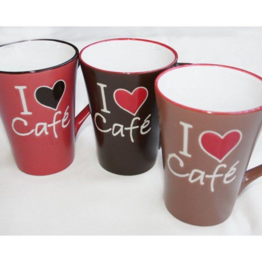Kaffeebecher XL 360ml mit I ♥ Café-Design