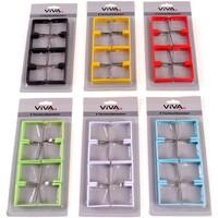 Tischtuchklammer 8 Stück in div. Farben 4 x 4 cm