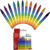 Goki Wachskreide 12 Farben 8,9cm x 8mm für einen schönen Start in die Schule