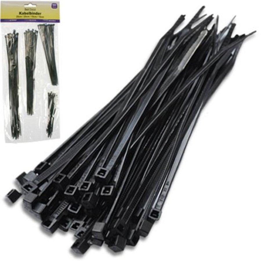 Kabelbinder 65 St. 4 Größen sort. 25/20/15/10cm