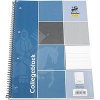 Schreiben Block College Block A4 80 Bl. mit Doppellinien und perforierter Kante