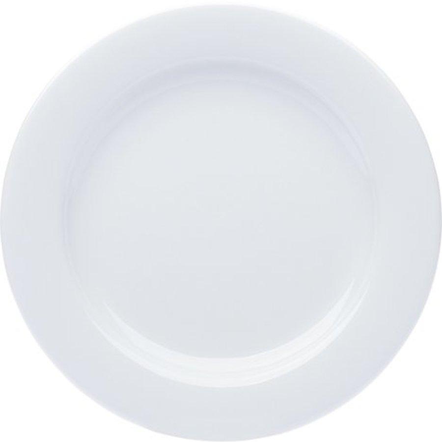 Assiette en porcelaine plate blanche 27cm