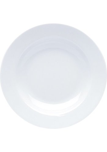 Neckermann Assiette en porcelaine blanche 22x3cm