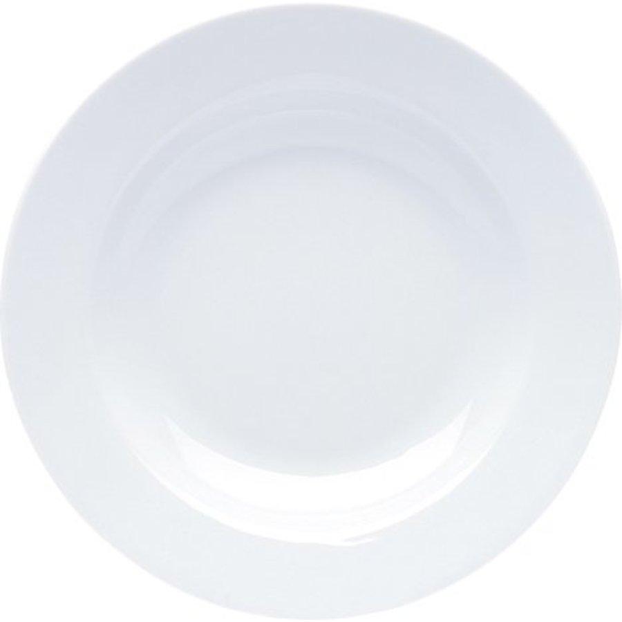 Assiette en porcelaine blanche 22x3cm
