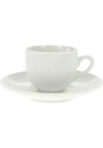 Neckermann Porseleinen espressokop m. Schotel wit 105ml