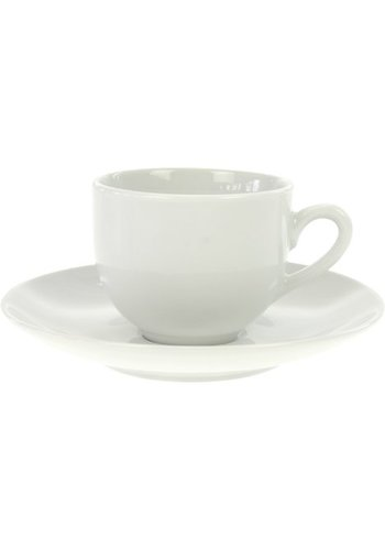 Neckermann Tasse à expresso en porcelaine m Plat blanc 105ml