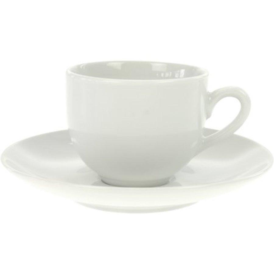 Porzellan Espressotasse m. Dish weiß 105ml