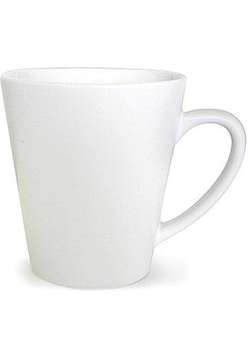 Neckermann Porzellan Kaffeetasse konische Form weiß 300ml