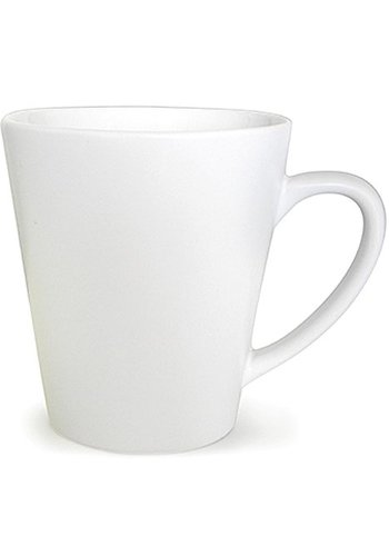 Neckermann Tasse à café en porcelaine de forme conique blanche 300ml