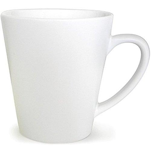 Neckermann Tasse à café en porcelaine de forme conique blanche 300ml