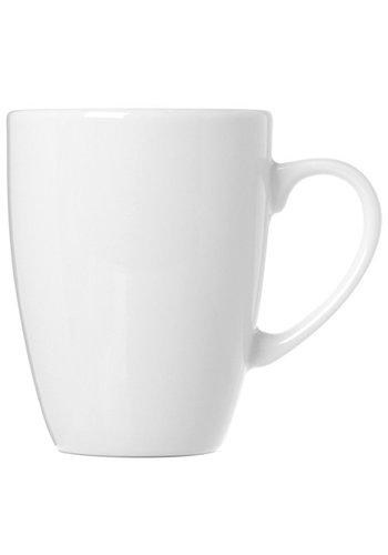 Neckermann Tasse à café en porcelaine blanche sphérique 360ml