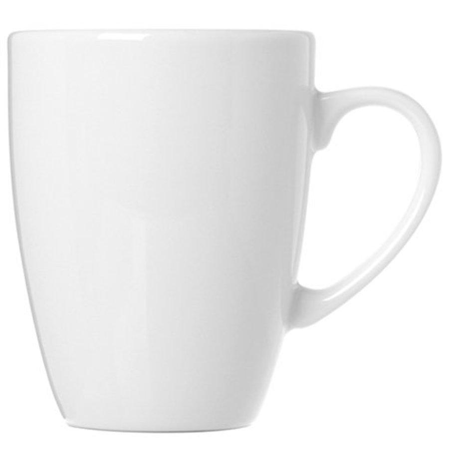 Porzellan Kaffeetasse sphärisch weiß 360ml