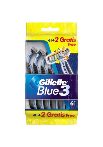 Gillette Blue3 Einwegrasierer 4 + 2 frei
