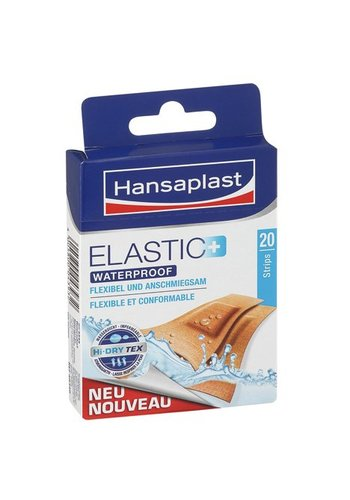 Hansaplast Elastic Waterproof Plasters - 20 pièces