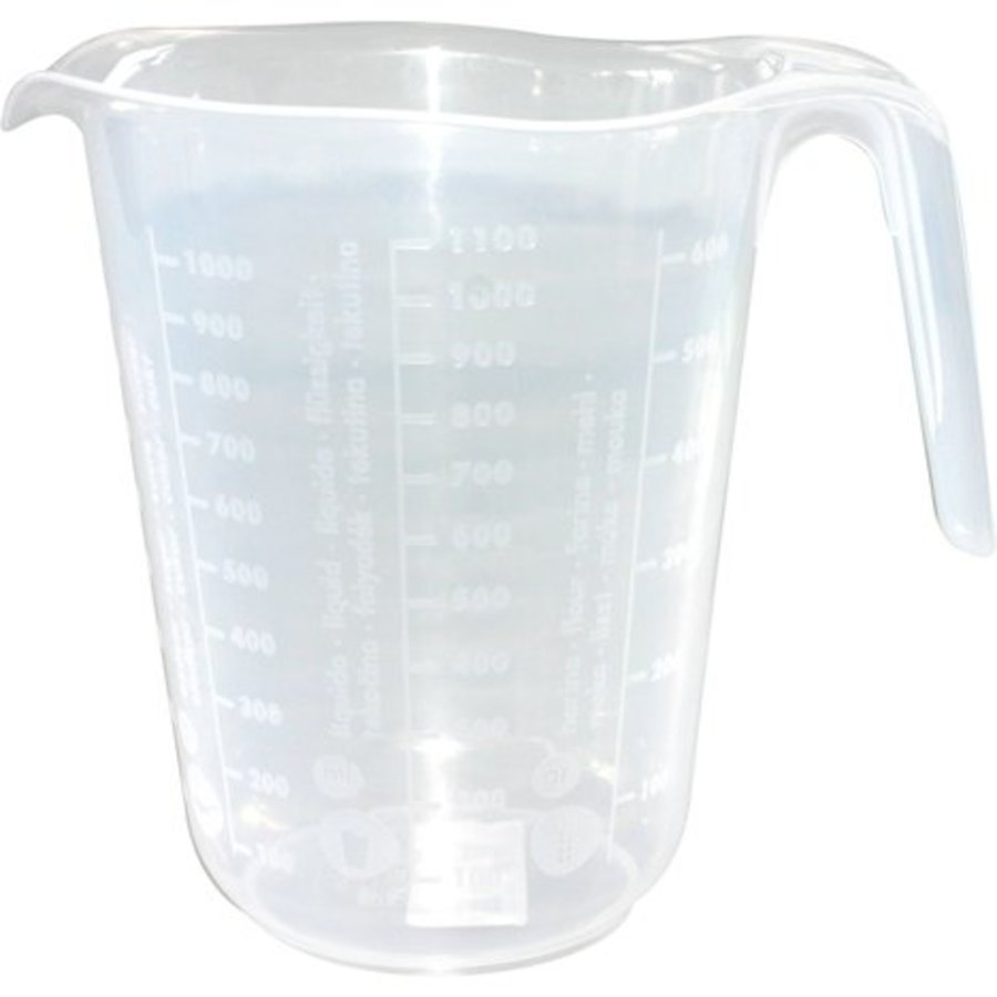 Messbecher 1 Liter transparent 16 x 13cm