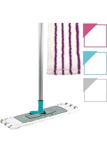 Neckermann Platte Vloerwisser met opvouwbare houder incl. microvezeldoek in diversen kleuren