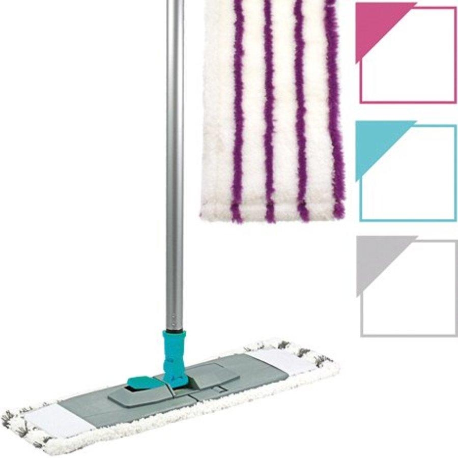 Flachwischer mit faltbarem Halter inkl. Mikrofasertuch in verschiedenen Farben