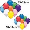 Neckermann Luftballons 25 Stück, 10x14 + 15x22cm Durchmesser