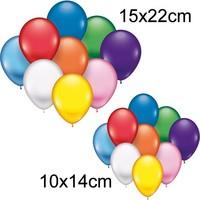 Luftballons 25 Stück, 10x14 + 15x22cm Durchmesser