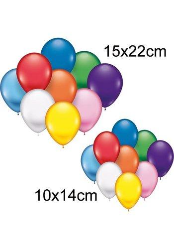 Neckermann Luchtballonen 25 Stuks, 10x14 + 15x22cm Diameter
