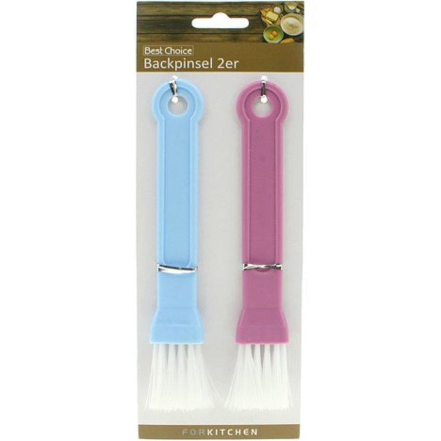 Backpinsel - 2 Stück - blau und rosa