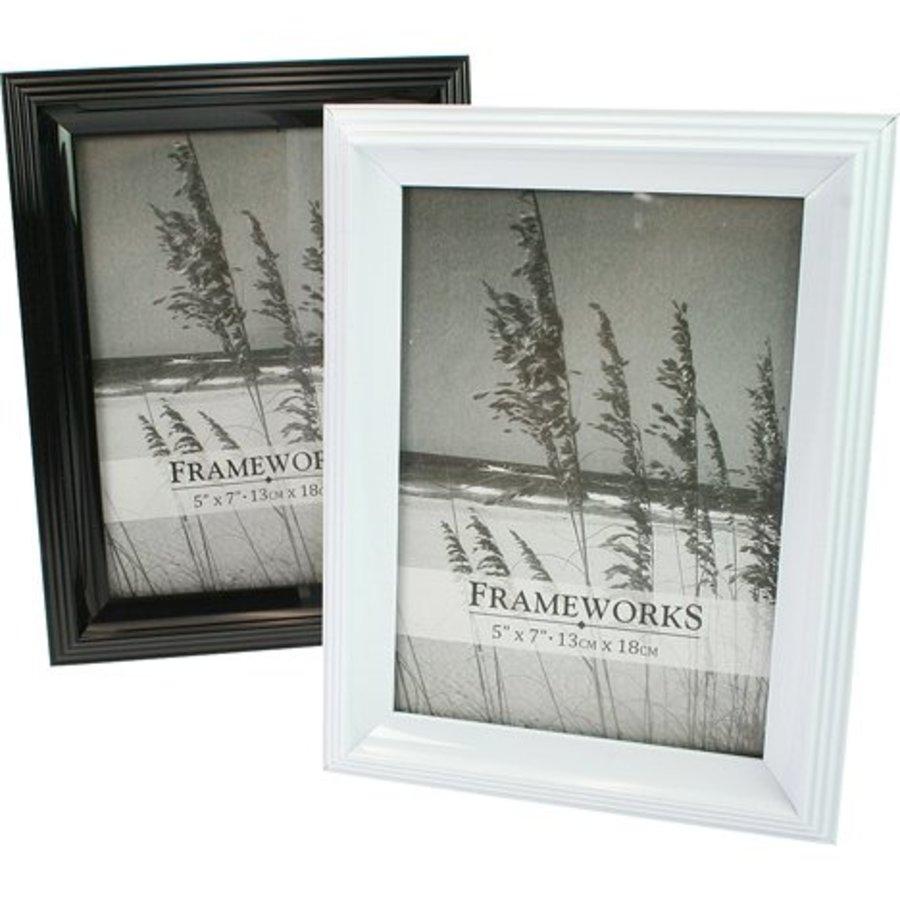 Fotolijst Zwart of Wit  Voor Foto Maat 13x18cm