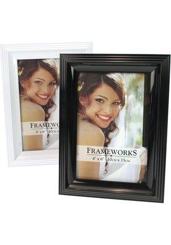 Frameworks Cadre Photo Noir et Blanc pour Photo Grand 10x15cm