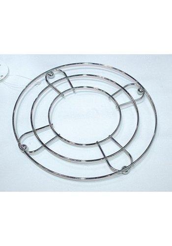 Neckermann Pan Coaster - Chrom - 8 cm rund