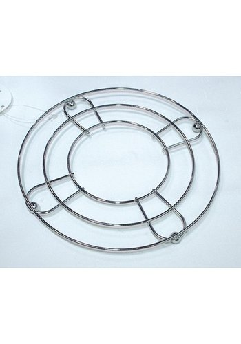 Neckermann Pan coaster - chrome - rond 8 cm